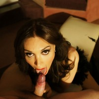 Beautiful TS Mariana Cordoba and man exchange blowjobs in bedroom