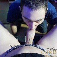 Hung TS Mariana Cordoba jacking off massive cock while playing video games