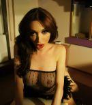 Brunette Latina shemale Mariana Cordoba and her beau exchange blowjobs
