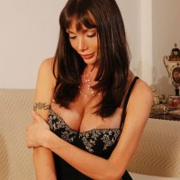 Beautiful Latina tranny Mariana Cordoba showing off huge dick for close ups