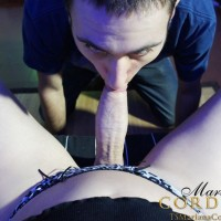 Shemale gamer Mariana Cordoba swaps oral sex with her man friend during a game