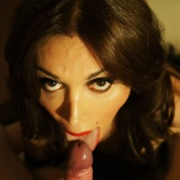 Busty TS Mariana Cordoba receiving oral sex on huge cock from man