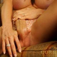 TS pornstar Mariana Cordoba posing topless in pretty panties