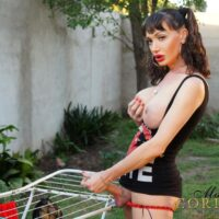 Solo ts porn-star Mariana Cordoba flaunting gigantic fun bags & her terrific sausage