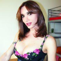 Top trans model Mariana Cordoba sports a bulging schlong beneath her underwear
